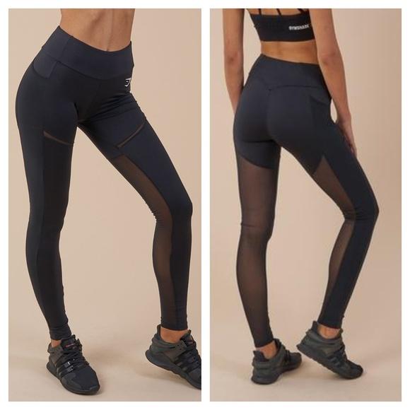 cd4ad7154f9d2c Gymshark Pants | Simply Mesh Leggings Black | Poshmark